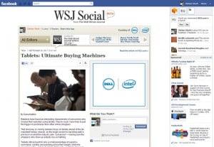 WSJ app on Facebook