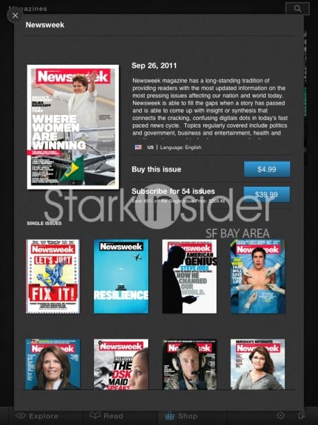Zinio for iPad and Android - digital magazine newstand