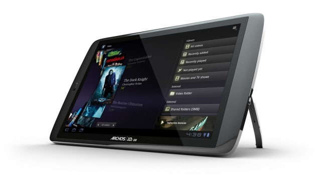 Archos G9 with stand