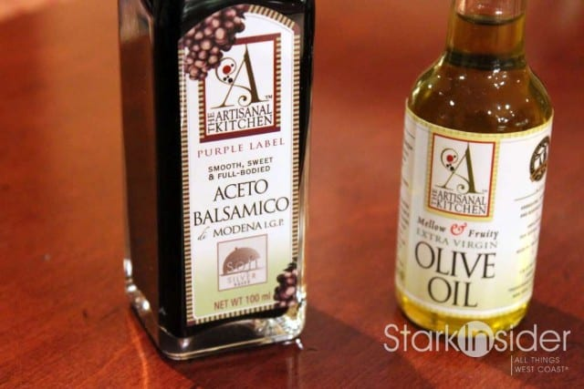 The Artisanal Kitchen offers both balsamic vinegar and extra virgin olive oils.