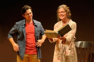 Tyler Pierce and Linda Gehringer star in the world premiere of Bill Cain's How to Write a New Book for the Bible at Berkeley Rep.