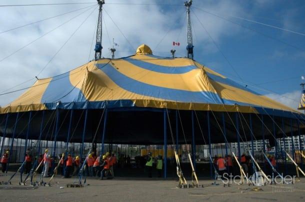 Raising the Big Top - Cirque du Soleil Totem