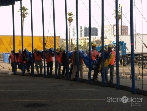 Cirque du Soleil set-up at AT&T Park San Francisco