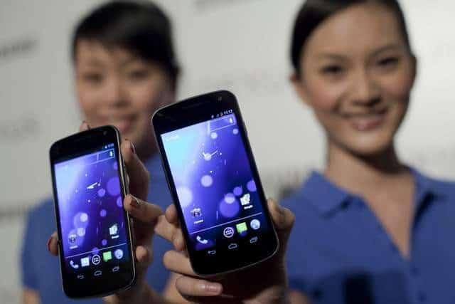 Samsung Galaxy Nexus: first to run Android 4.0 - Ice Cream Sandwich.