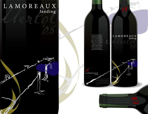 Lamoreaux Landing Wine Label