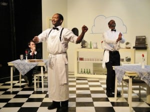Adam Simpson as Hally, Anthony Rollins-Mullens as Willie, LaMont Ridgell as Sam.