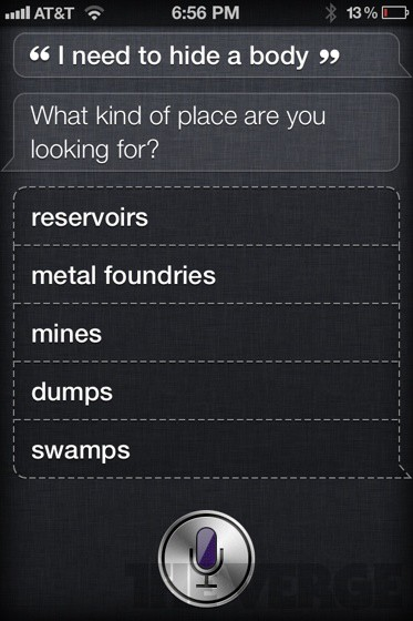 Siri - aiding and abetting