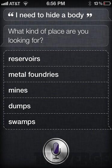 Siri - aiding and abetting