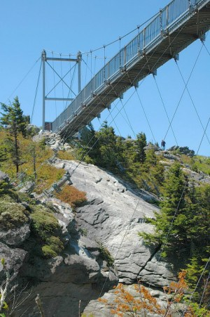 Swinging Bridge at Grandfather Mt.