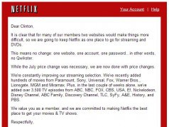 Netflix gives up - reverses course