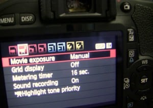 Canon T2i LCD Display