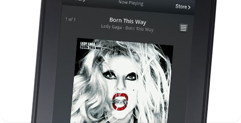 Kindle Fire Lady Gaga