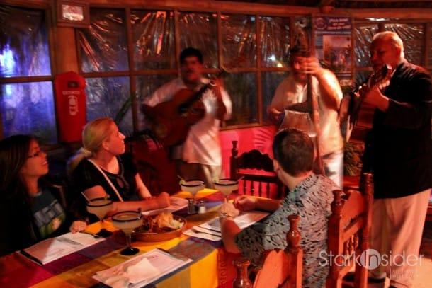 Dining at La Palapa.