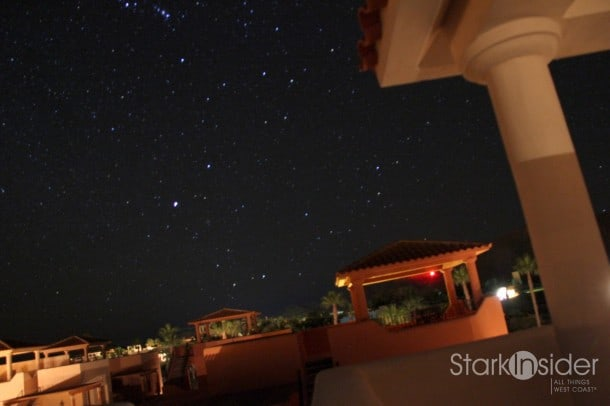 """Starry night, from the tower of our Loreto Bay home, """"Casa Del Lagarto Azul""""."""