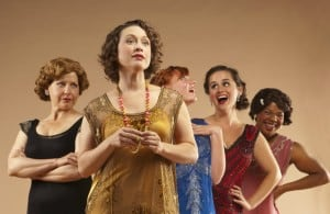 LtoR, Lisa-Marie Newton (Constance), Teressa Byrne (Kay), Skye Violet Wilson (Gilda Grant), Amie Shapiro (Molly), Erica Kimble (Billie).