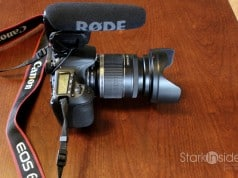Rode Videomic Pro mounted on a Canon EOS 60D DSLR