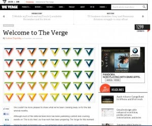 Verge welcome by Joshua Topolsky