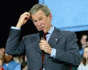 George Bush in deep thought