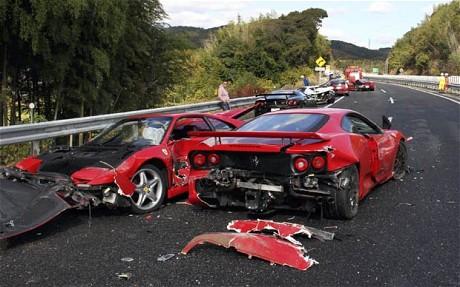 Ferrari crash in Japan