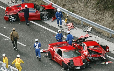 $4M Supercar Crash in Japan