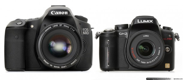 Canon EOS 60D vs. Panasonic GH2