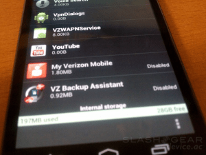 Verizon Bloatware on Galaxy Nexus