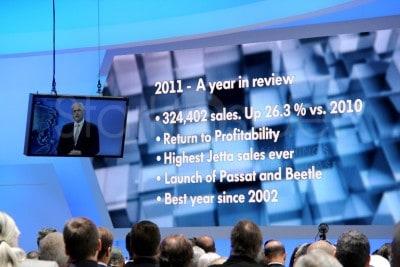Volkswagen. Business is good. Very good.