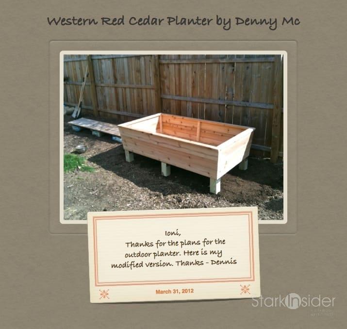 A clic, raised garden planter box | Stark Insider on herb garden planter designs, landscape planter designs, backyard planter designs, raised garden trough planters, raised garden planters outdoor,