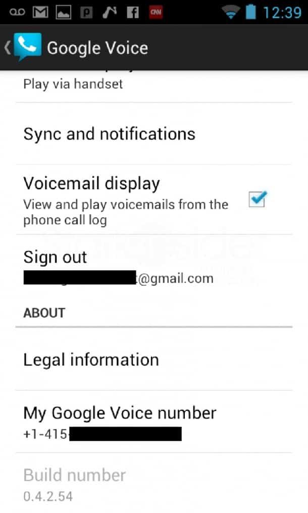 Google Voice ICS