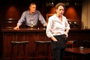 """Stacy Ross (foreground) and James Carpenter in """"Any Given Day"""" by Linda McLean at Magic Theatre."""