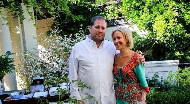 Chef David Kinch (Manresa) with Montalvo Executive Director Angela McConnell.