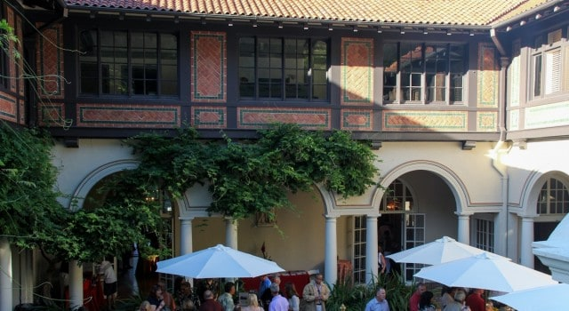 The Spanish Courtyard was just one of several locations where guests could sample fine wines and gourmet creations.
