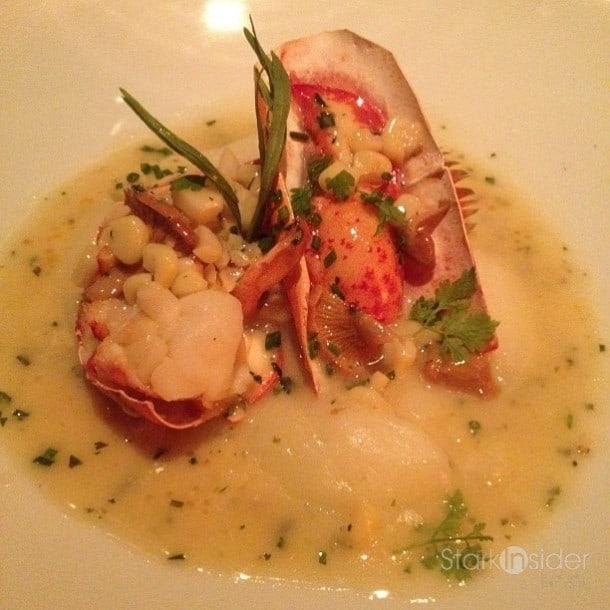Roasted lobster.