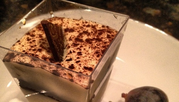 Tiramisu with fresh figs.