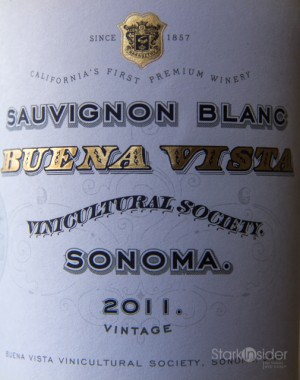 Buena Vista Sauvignon Blanc Sonoma - Wine Review