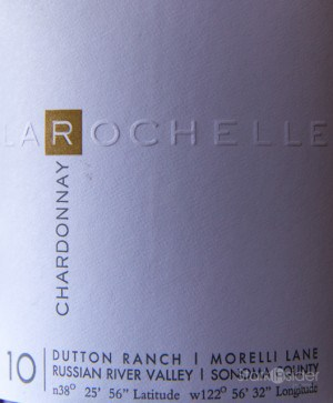 La Rochelle Chardonnay Dutton Ranch Russian River Valley