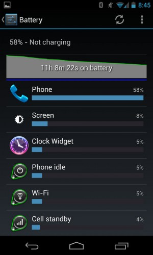 Nexus 4 Battery Life