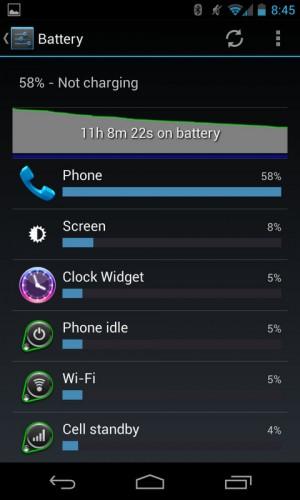 Nexus 4 Battery Life