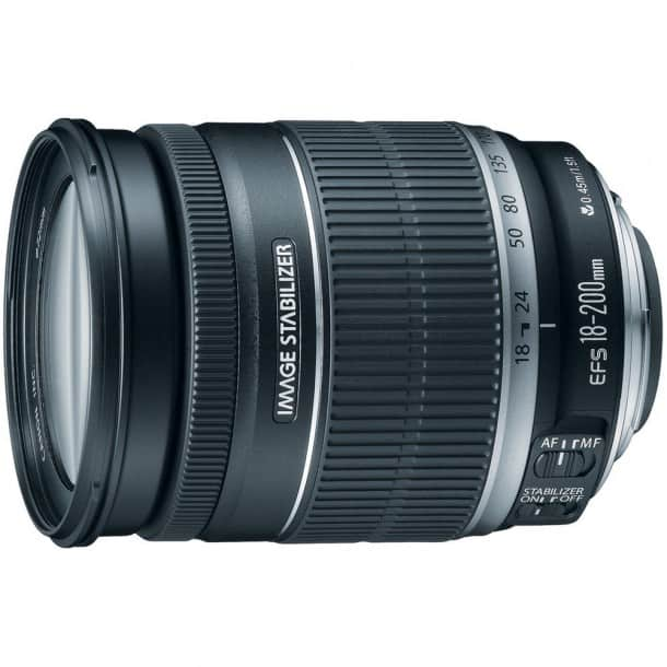 A flexible all-rounder: Canon 18-200mm lens.