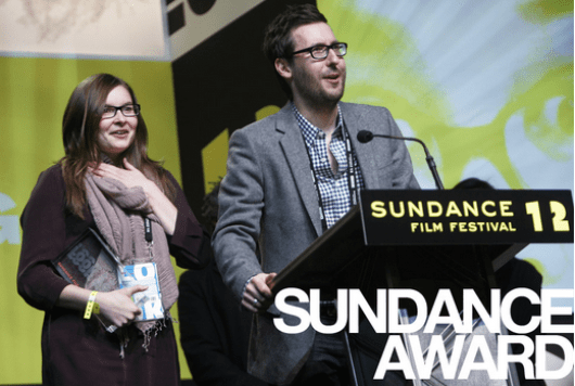 First time filmmakers Lisanne Pajot, and James Swirsky find themselves on stage at Sundance receiving and award for their documentary about tye trials and tribulations of video game development.