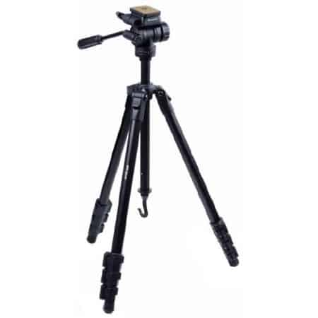 I like this tripod because it's robust, features a fluid head, and yet is still light enough to throw over my shoulder while in the field.