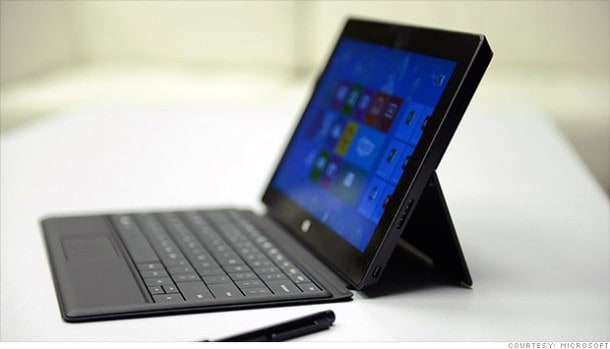 Microsoft Surface Pro: Runs fully functioning version of Windows 8 which could make the more popular than its less powered 'RT' sibling.