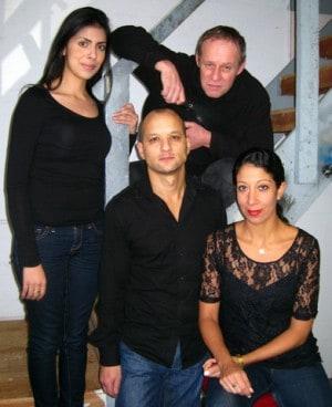 The world premiere cast of Se Llama Cristina at Magic Theatre: (clockwise from left) Karina Gutiérrez, Rod Gnapp*, Sarah Nina Hayon*, and Sean San José*.