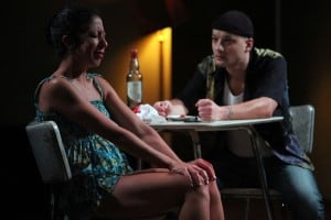 "Sarah Nina Hayon and Sean San José in the NNPN rolling world premiere of Octavio Solis' ""Se Llama Cristina"""