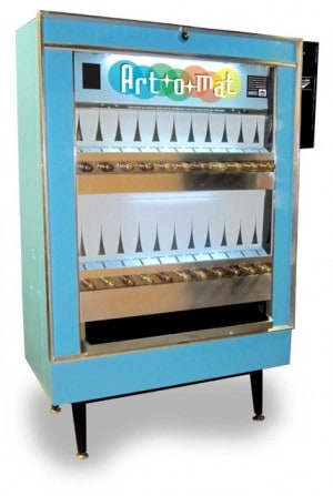 The Art-o-Mat, made from vintage cigarette machines, will dispense original artwork from Bay Area artists for $5.