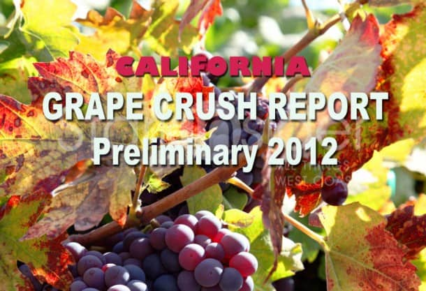 California Grape Crush Report 2012