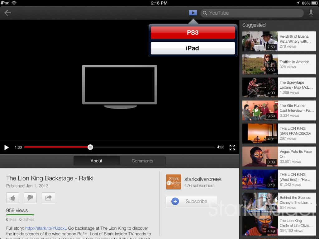 How to stream YouTube videos to a TV using an iPhone, iPad | Stark