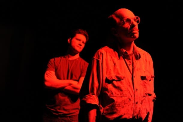 Aaron Wilton* as Ken and Randall King* as Mark Rothko in San Jose Stage Company's production of Red.
