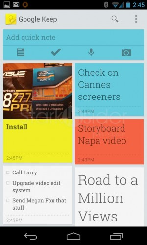 Google Keep - a pretty, lightweight task organizer and note taking app.