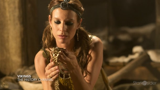 Vikings star Jessalyn Gilsig. Her Stark Insider interview was the top peforming video of the week.